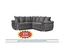 pay weekly molly corner sofa or 3+2 sofa brand new Set £14 Per Week