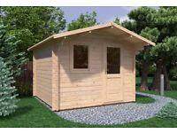 Brand New Log Cabin | 3mx3m | Olympian Bronze