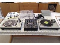 Pair of Technics SL1200 mk2 direct drive turntables - superb condition