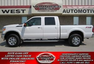 2012 Ford F-350 Pearl Whie Lariat Crew FX4 4x4, Navigation, Leat