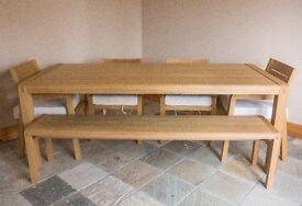 LIKE BRAND NEW - HABITAT RADIUS 8 Seat Oak Dining Set - Habitat Price £2020 selling for £1450.00