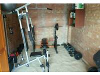 Gym equipment all in perfect condition .