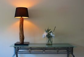 Rustic Weathered Oak Table Lamp