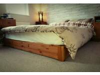 King size used Japanese Kyoto 'floating' bed with mattress