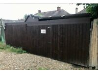 Large secured double gated Garage located: Bromley