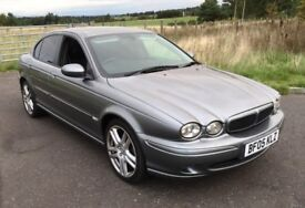 STUNNING 2005 Jaguar x type 2.0 d sport premium saloon, gunmetal grey, half leather FSH, mot 2019 !
