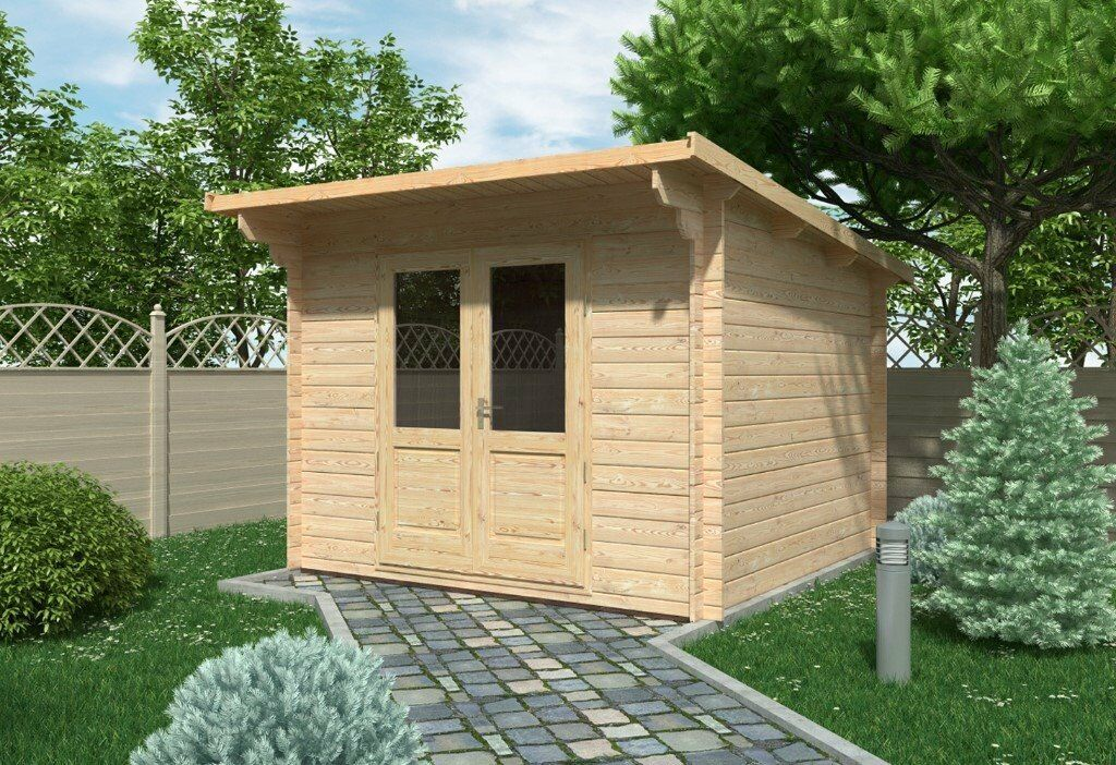 summer house office. Siena Log Cabin 3m X (28mm) - Garden Room Summer House Office Shed M