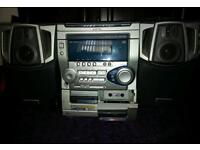 Cd and cassette and radio player