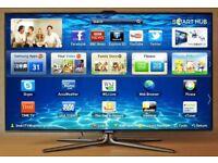 55 SAMSUNG LED TV SMART 3D UE55ES7000. FREEVIEW BUILT CHANNELS.