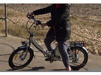 ELECTRIC FOLDING CYCLE, EXCELLENT CONDITION, SILVER