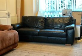 Leather 3 seater sofa from next