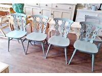 $ x beech & elm vintage ercol chairs in excellent condition