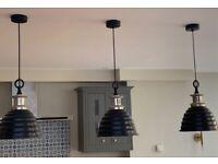 Pendant lights x3. Neptune. Industrial style