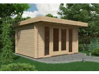 Milan Log Cabin 4m x 3m (44mm) - Garden Room Summer House Office