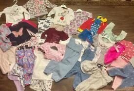 Baby girls bundle of clothes 6/9 months