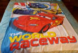 Cars themed duvet and pillow bed set for cot bed