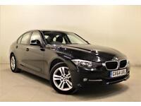 BMW 3 SERIES 2.0 320D SPORT 4d AUTO 184 BHP + 1 OWNER + S/H +SAT NAV + LEATHERS (black) 2015