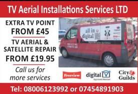 Aerial & satellite Installations Repairs From £19.95 Same Day Service Aerials,Satellite & CCTV