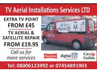 Aerial & satellite Installations Repairs From £19.95 Same Day Service Aerials,Satellite & CCTV