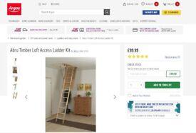 Timber Loft Access Ladder Kit New Argos