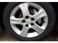 OEM Nissan S15 wheels 5x114.3 Toyo 205/50/16