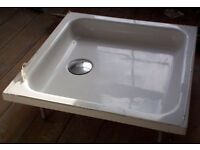 Shower tray, high level, flat top