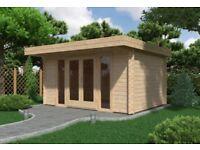 NEW Milan 4m x 3m (28mm) Log Cabin from LOGSPAN