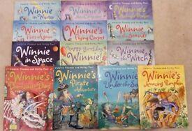 13 Winnie Witch books, good condition