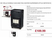 De Vielle Mobile Gas And Fan Heater Superser Style DEF974519