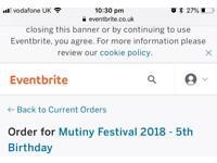Mutiny festival VIP ticket Saturday adult