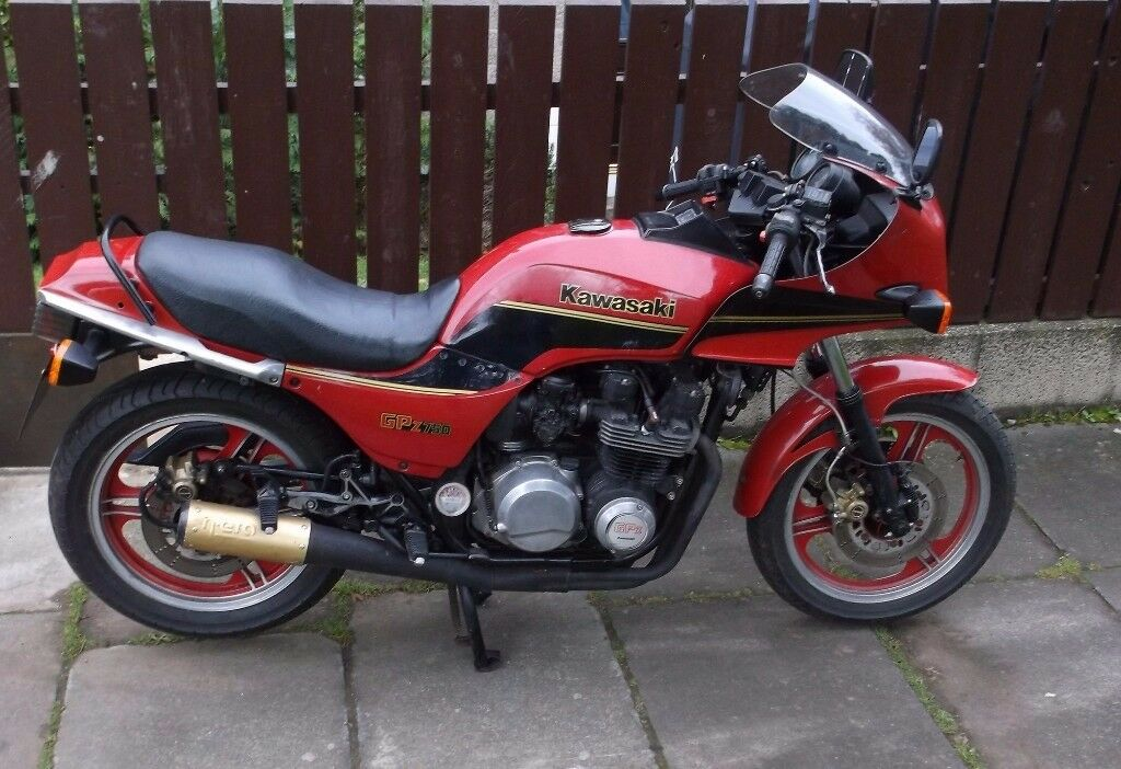 red 1983 kawasaki gpz 750 a1 12 months mot price