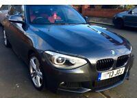 "BMW 1-Series 116d M Sport, Metallic Grey, Red Dakota Leather, 18"" Alloy"