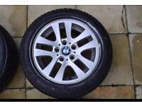 BMW 1/3/5 series alloy wheels 225/55/R16 FULL SET