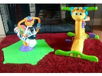 VTech Bounce Giraffe & Fisher Price Bounce Zebra