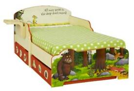 Gruffalo toddler bed with shelf and storage