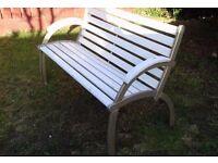 Vintage cast iron, art deco bench