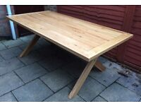 'Superb' Solid Oak Dining Table, New & Boxed.