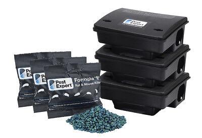 Pest Expert Rat Poison Killer Kit  Large Infestation - Inc Formula B (60 x 100g)