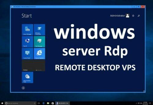 RDP SERVER / VPS SERVER 16GB RAM 4 vCPUs + 30 DAYS FULL GUARANTEE