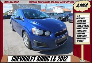 2012 Chevrolet Sonic LS A/C BLUETOOTH