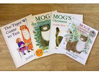 "Children's Books - 3 Mog (including ""Christmas Calamity"" + The Tiger who came to Tea"