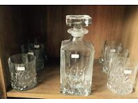 Royal Doulton Boxed Crystal Whiskey Decanter Set