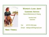 Women's Land Army - Lady Gardener providing Garden Tidy & Maintenance Services