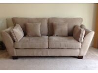 3 and 2 seater sofa only 4 years old bought from sterling very good quality