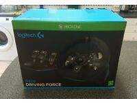 Selling or swap my G920 Logitech steering wheel and gear shifter for Xbox One or PC.
