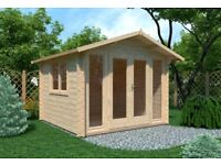 Roma Log Cabin 3m x 3m (28mm) - Garden Room Summer House Office