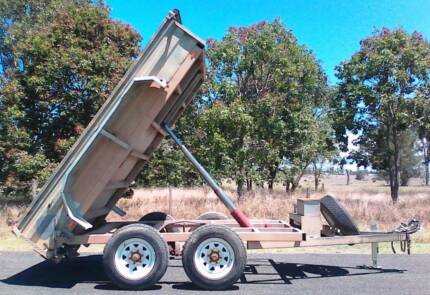 $70/day HIRE - 10X8 HEAVY DUTY TIPPER TIPPING TRAILER