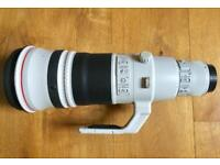 Canon EF 500mm F/4 L II IS USM telephoto lens.
