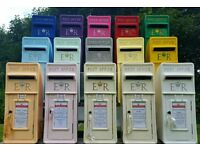 PERSONALISED ROYAL MAIL ER WEDDING POST BOX HIRE IVORY PINK WHITE GREEN BLUE RED ANYWHERE IN UK HIRE