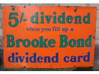 Vintage Brooke Bond Advertising Sign